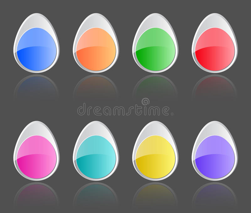 Download Easter buttons stock vector. Image of background, orange - 29932587