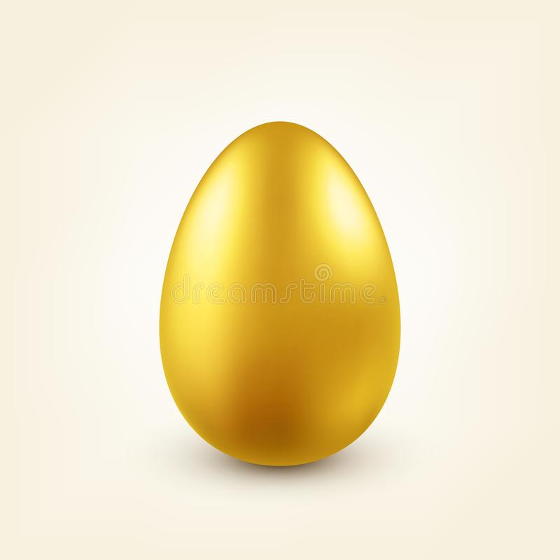 Easter golden egg. Traditional spring holidays in April or March. Sunday. Eggs and gold. vector illustration