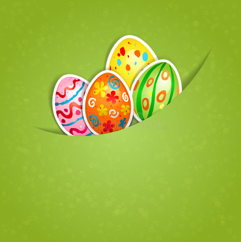 Download Easter Green Background With Egg Stock Vector - Image: 29112818