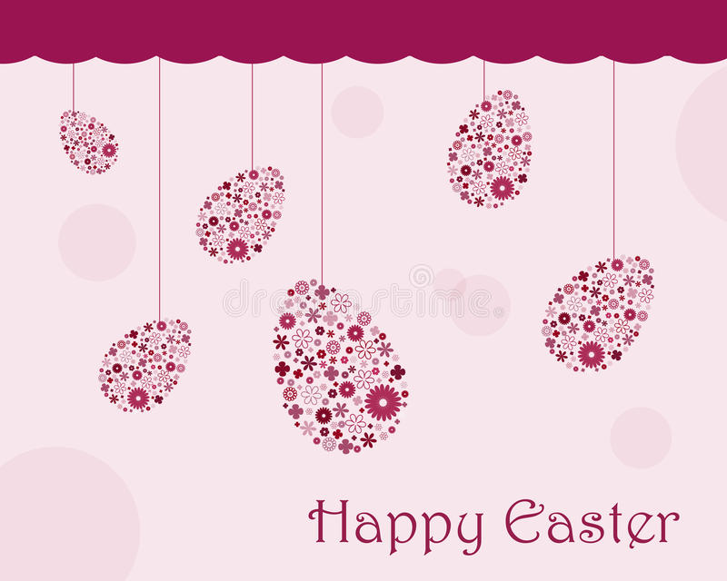 Download Easter greeting card stock vector. Image of eggs, ornaments - 12955480