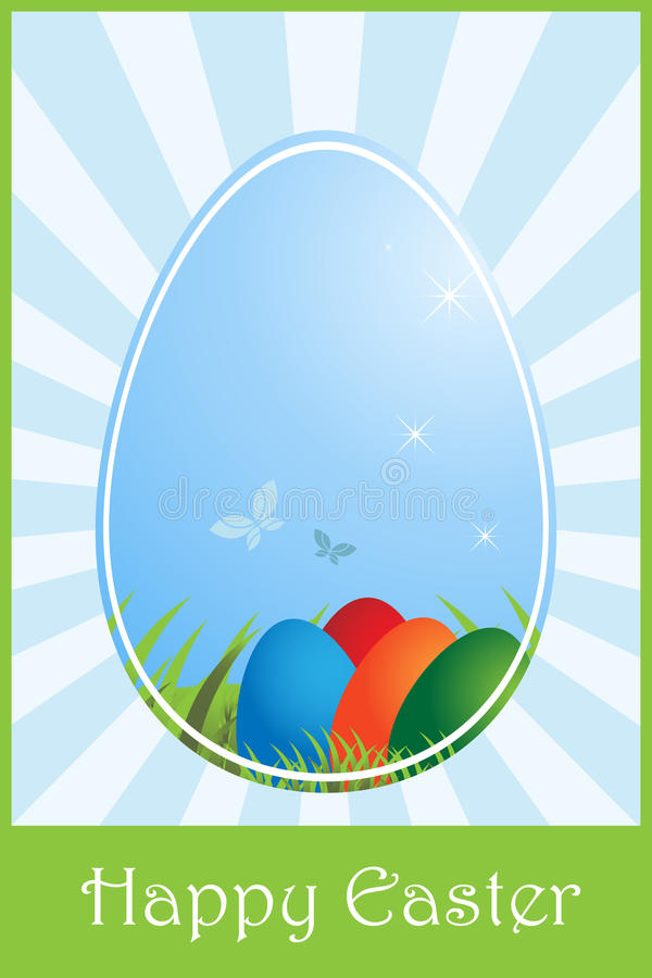 Download Easter greeting card stock vector. Image of butterfly - 12985198