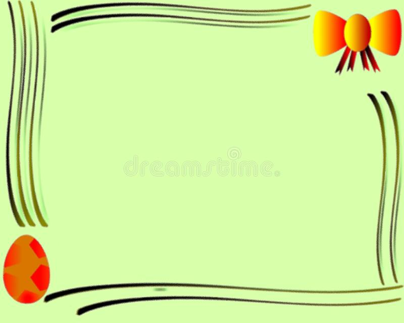 Colorful Easter greeting card with ribbon and egg royalty free stock photography