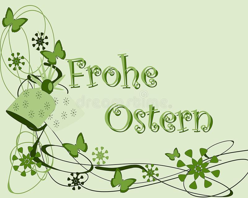 Easter greeting card with butterflies in German royalty free stock photo