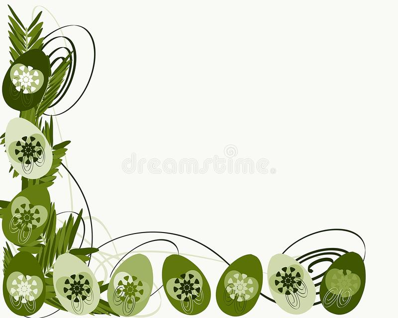 Colorful Easter greeting card with eggs stock image
