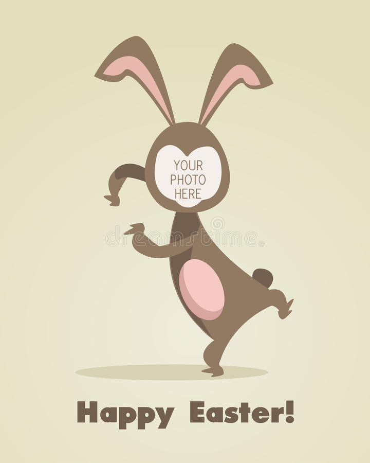 Easter greeting card. With place for your photo