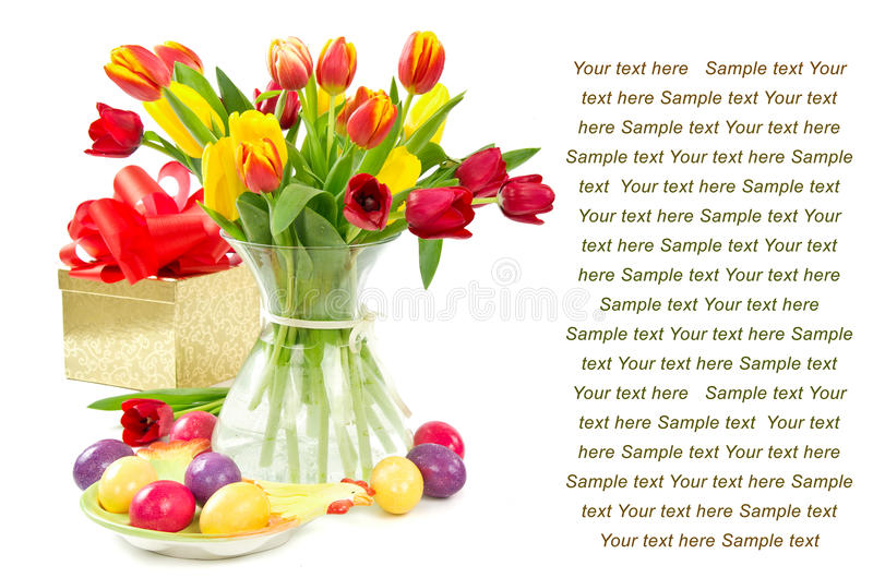 Download Easter greeting card stock photo. Image of colorful, white - 23374846