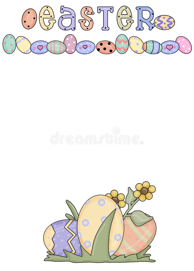 Easter Greeting Card 6 royalty free stock photos