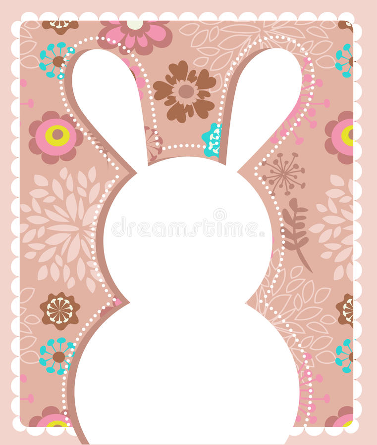 Download Easter Greeting Card With Bunny Stock Vector - Illustration: 23817639