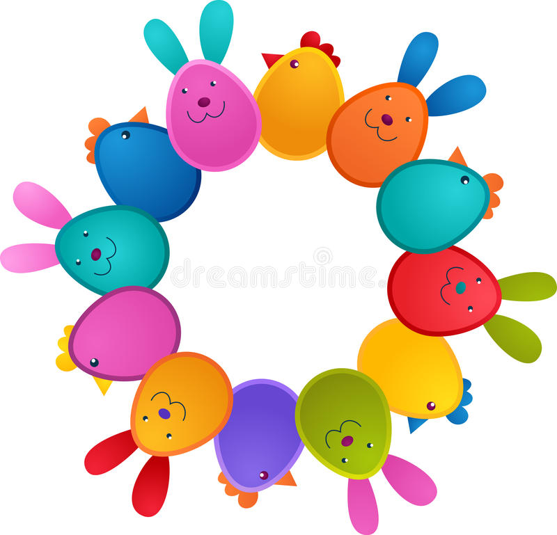 Download Easter Greeting Card With Bunny And Bird Stock Vector - Image: 23804788