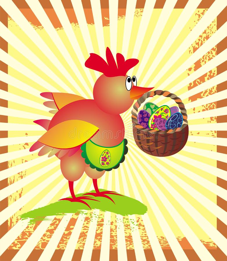 Download Easter Greeting Card With  Chicken Stock Vector - Illustration of easter, animal: 8650170