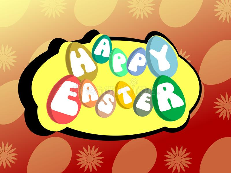 Colorful Easter greeting card stock photography