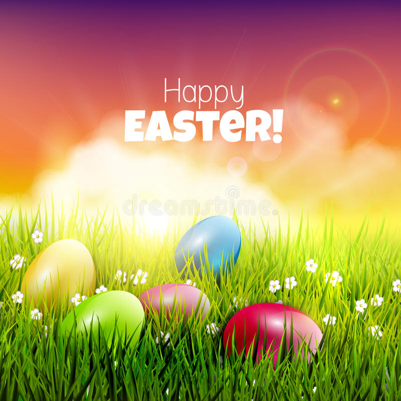 Download Easter greeting card stock illustration. Image of yellow - 43244925