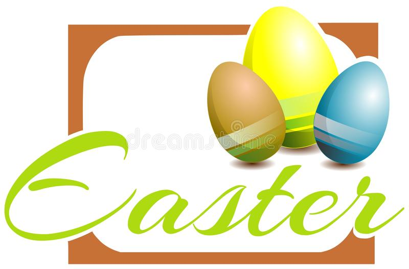 colorful Easter greeting card with eggs royalty free stock images