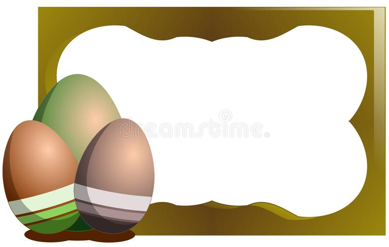 colorful Easter greeting card with eggs stock photo