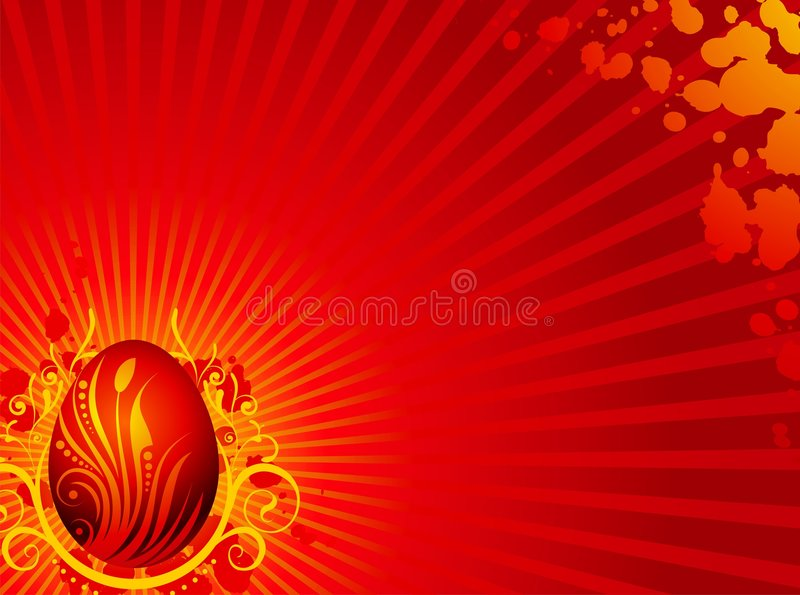 Download Easter Greeting Card With Painted Egg Stock Vector - Image: 4410969