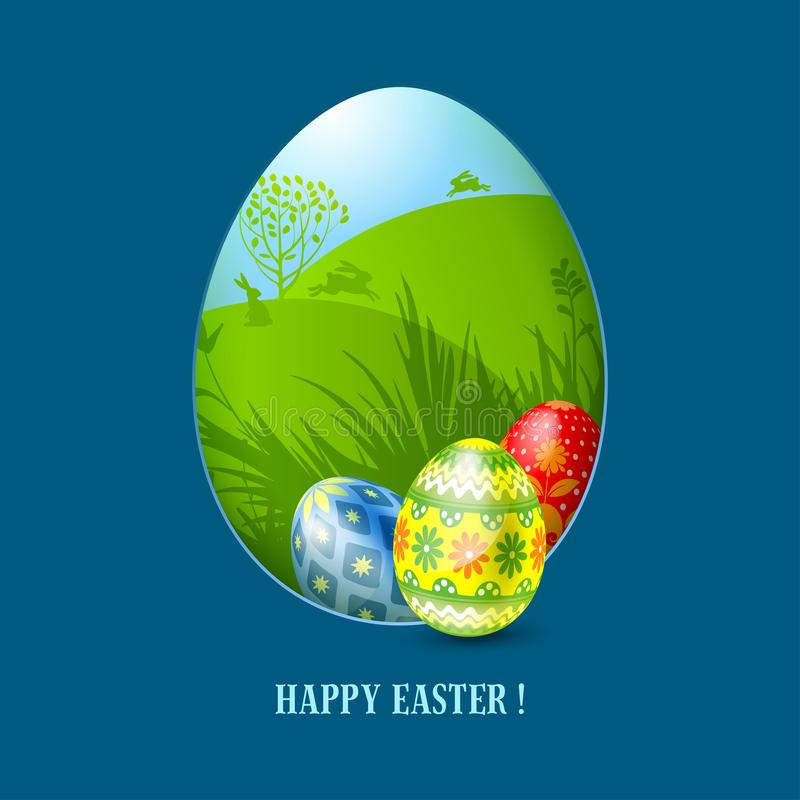 Easter Greeting Card Template Stock Vector  Illustration Of