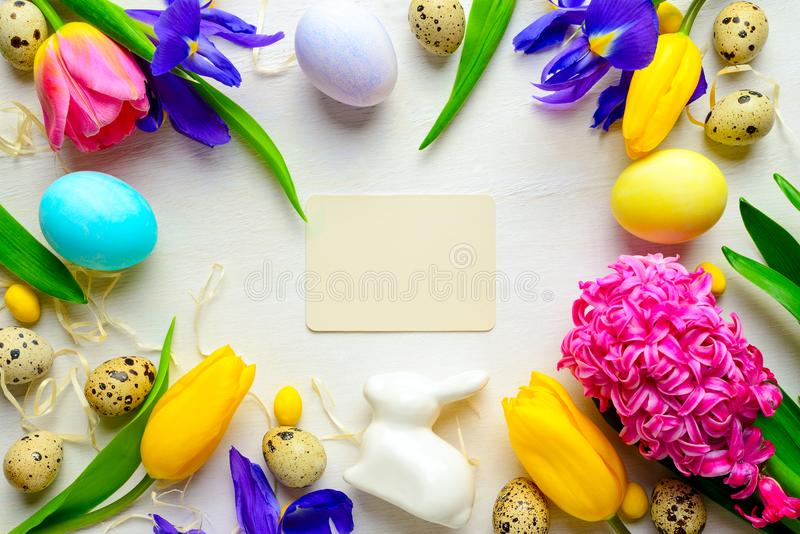 Easter Greeting Card Template Stock Image  Image Of Frame Concept