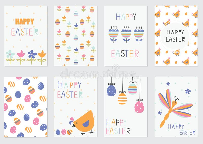 Easter greetings cards royalty free illustration