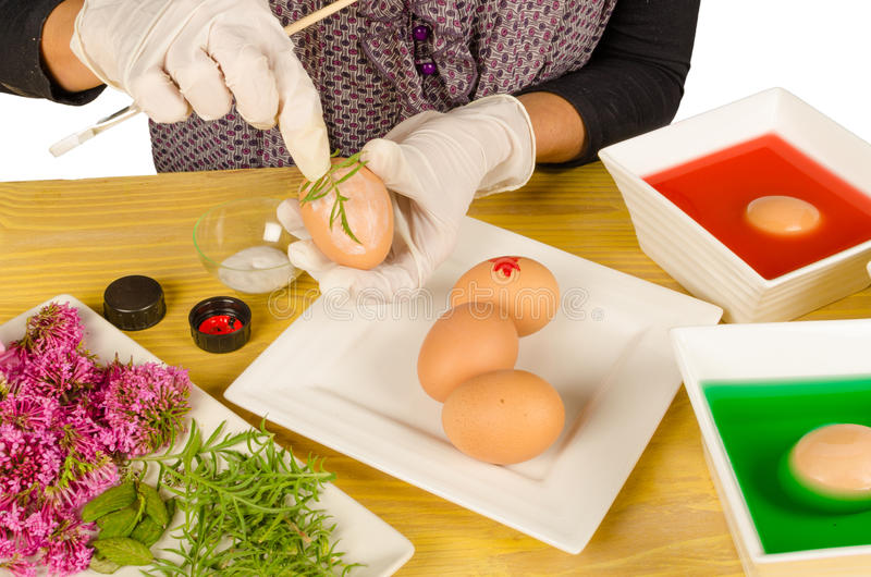 Easter handcrafts stock photo