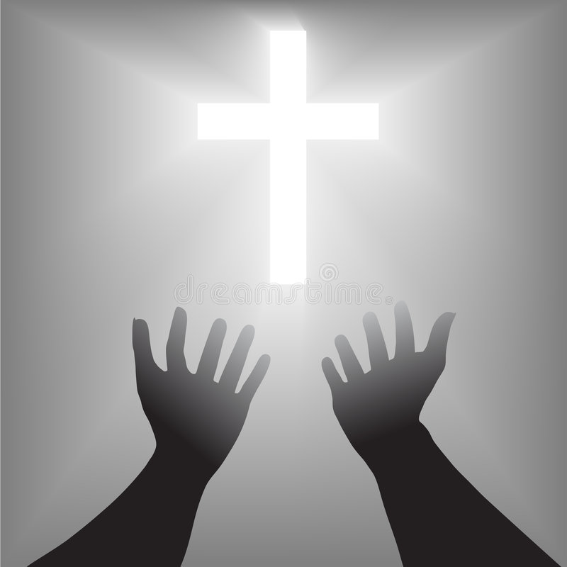 Free Easter Hands Cross Silhouette Royalty Free Stock Photos - 3225848