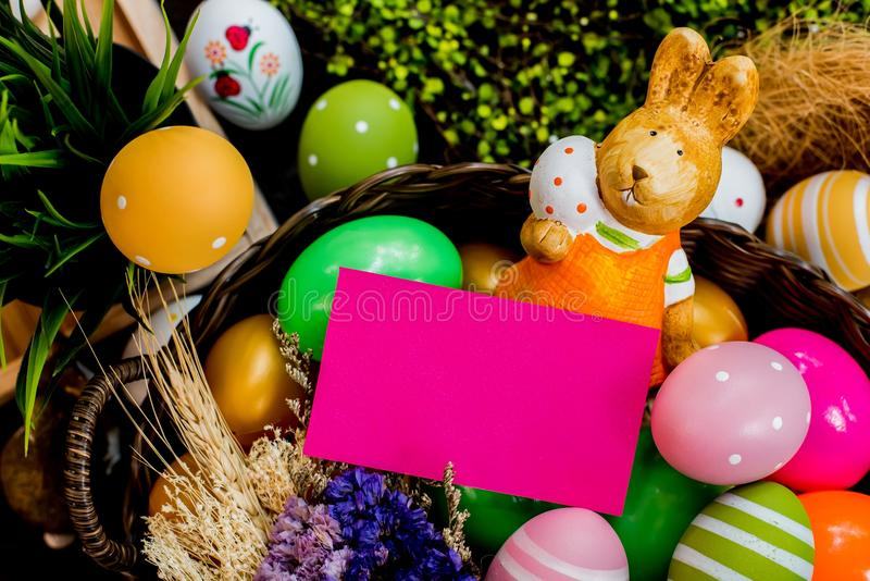Easter. Happy Easter day, bunny and egg, Christians worldwide celebrate royalty free stock images