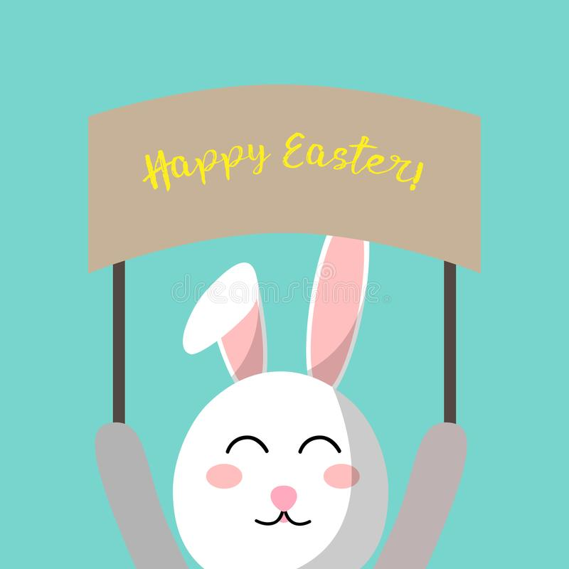 Easter hare. Greeting easter card. Illustration. royalty free stock photography