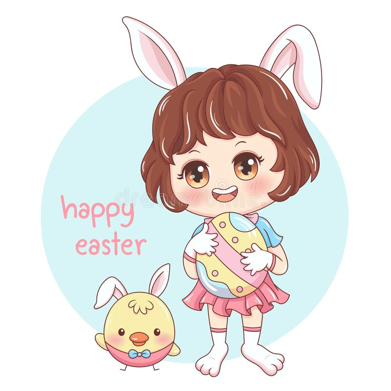 Easter_8 heureux illustration de vecteur