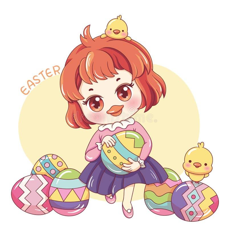 Easter_9 heureux illustration libre de droits