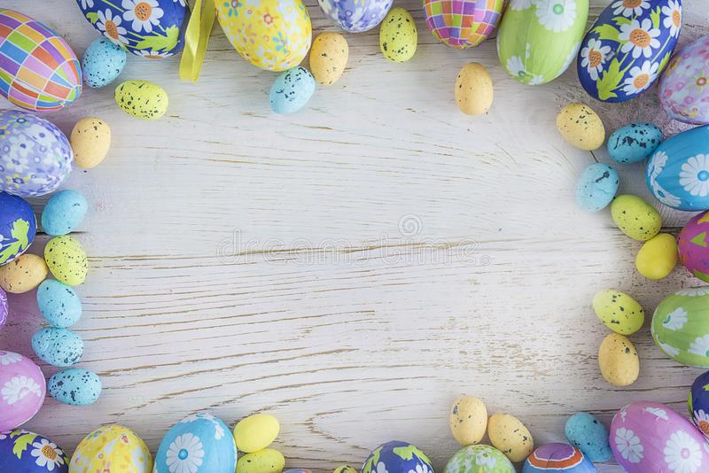 Easter holiday background. With copy space stock photography