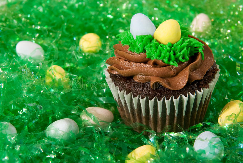 Easter Holiday Cupcake Stock Images