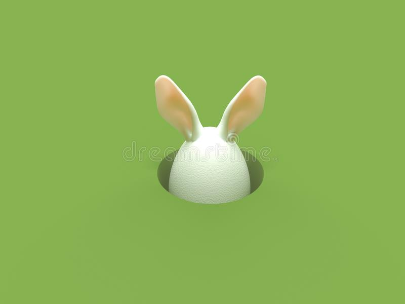 Easter holiday eggs color isolate royalty free illustration