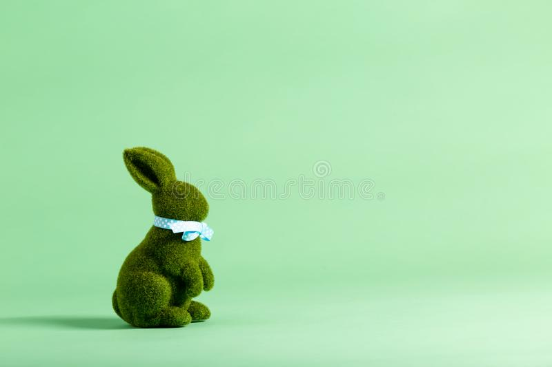 Easter holiday theme with ornamental bunny stock photography