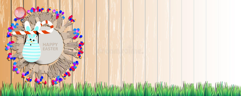 Easter horizontally oriented illustration vector illustration