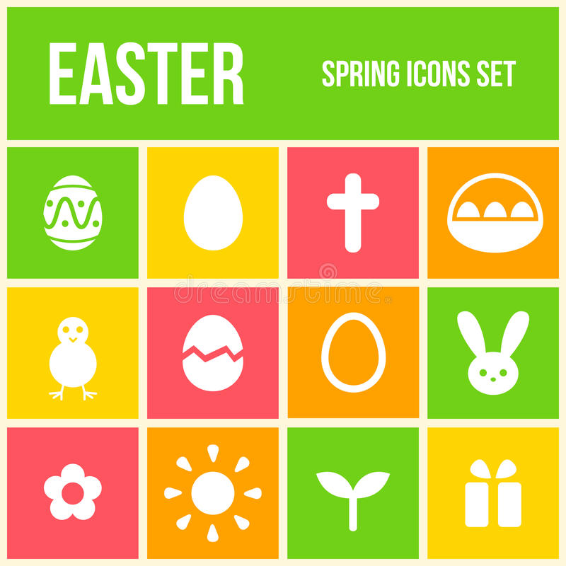 Download Easter icons set stock vector. Image of design, animal - 38869673