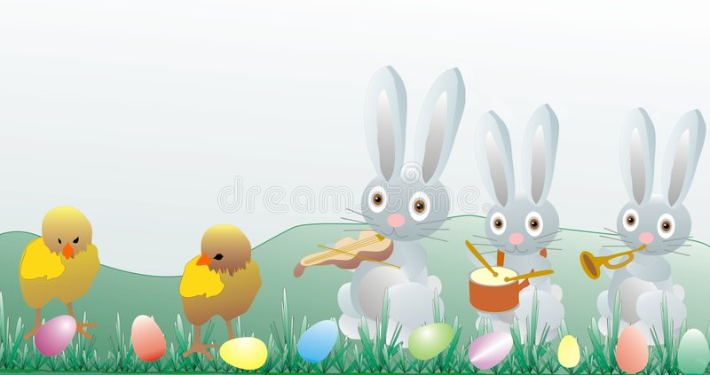Download Easter Illustration - Chickens And Bunny Stock Illustration - Image: 4190557