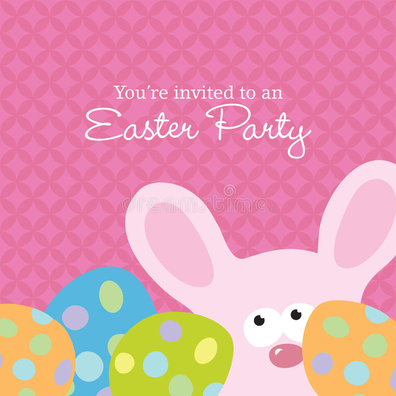 Easter Invite Template stock vector. Illustration of animal - 10325266