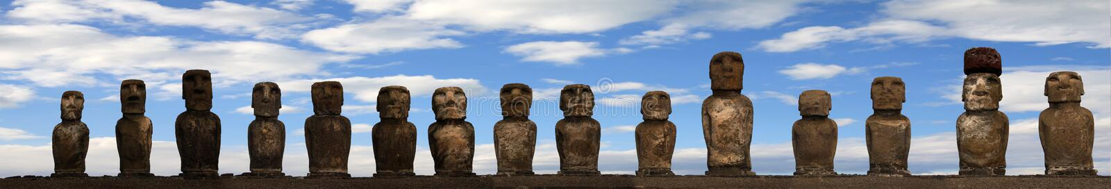 Download Easter island stock photo. Image of clouds, ancient, moai - 8697572