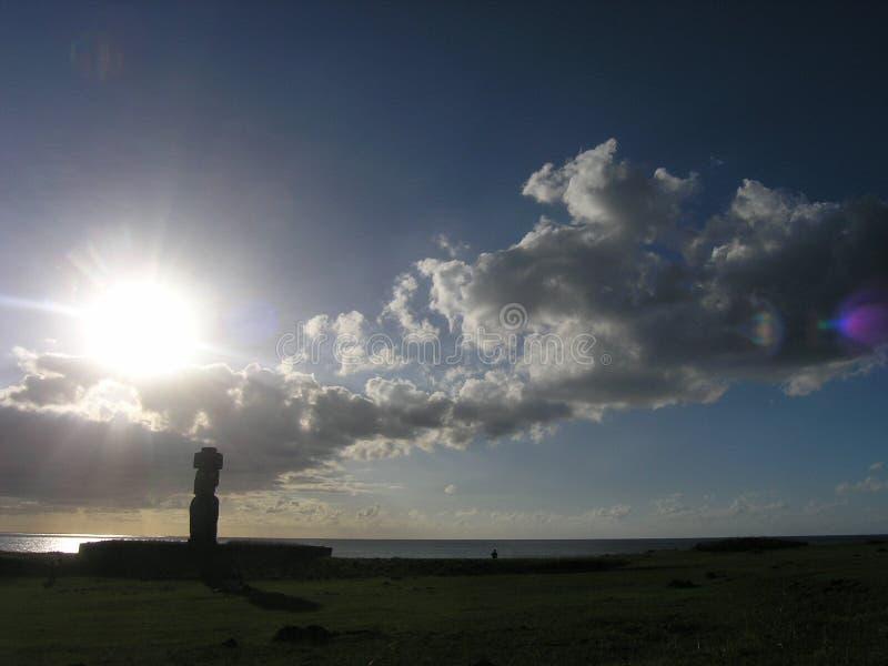 Easter Island - Ahu Tahai stock image