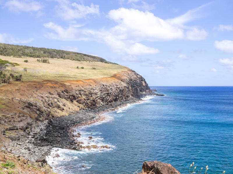 Easter Island Cliffs stock photography