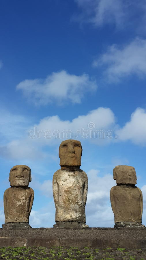 Easter Island moai royalty free stock photography