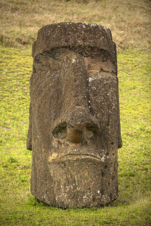 Easter island. Moais at Ahu Tongariki (Easter island, Chile stock image