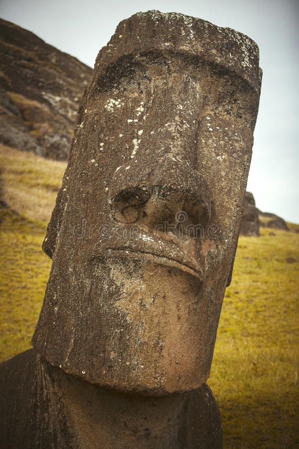 Easter island. Moais at Ahu Tongariki (Easter island, Chile royalty free stock photos
