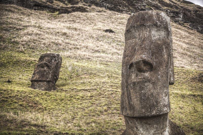 Easter island. Moais at Ahu Tongariki Easter island, Chile royalty free stock photo