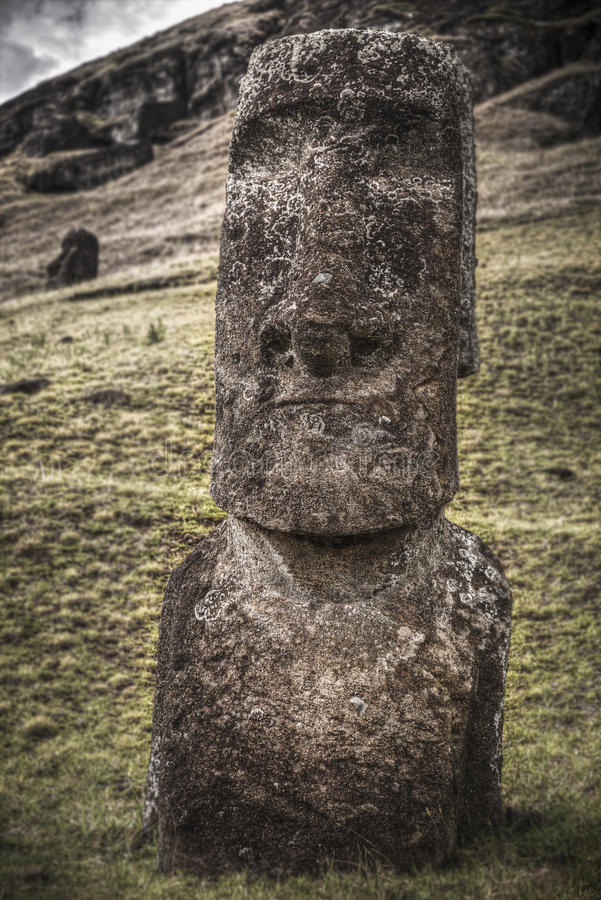 Easter island. Moais at Ahu Tongariki Easter island, Chile royalty free stock photography