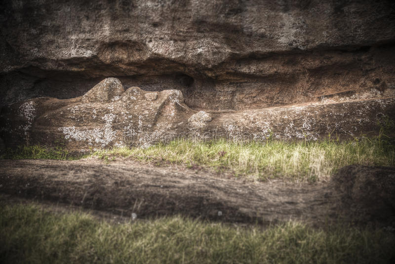 Easter island. Moais at Ahu Tongariki Easter island, Chile royalty free stock images