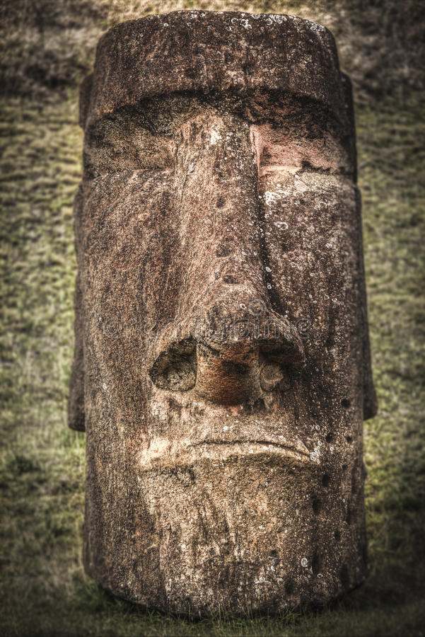Easter island. Moais at Ahu Tongariki Easter island, Chile stock photo