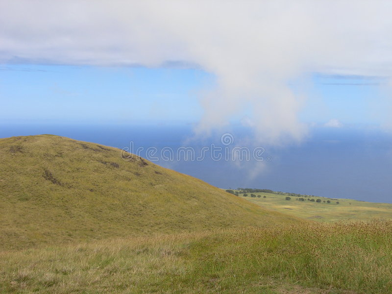 Easter Island - Mount Terevaka stock photography
