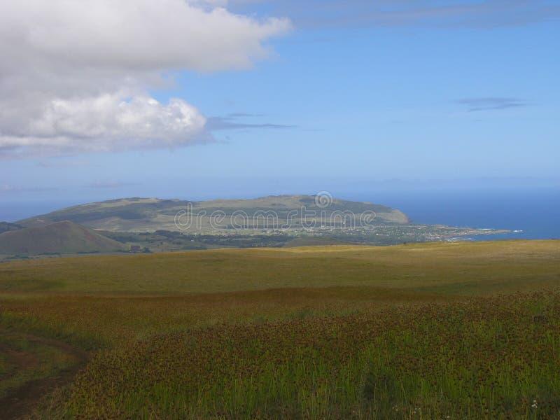 Easter Island - Mount Terevaka stock images