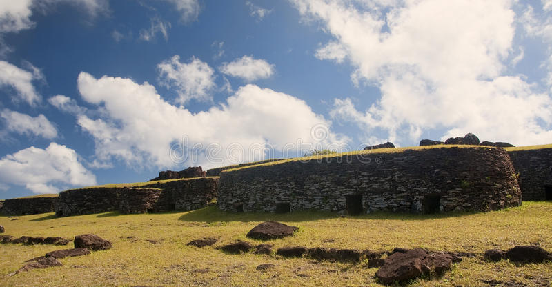 Easter Island - Orongo - old ritual village. Easter Island (Chile) - Orongo - old ritual village stock photo