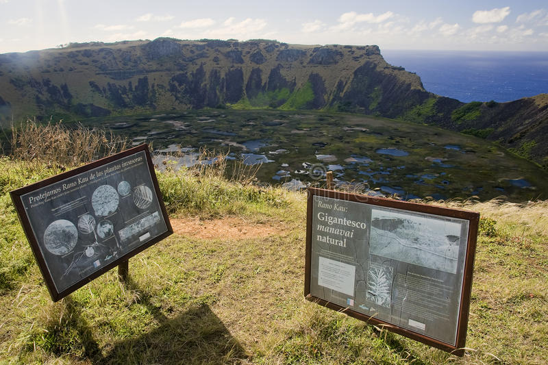 Easter Island - Orongo - old ritual village. Easter Island (Chile) - Orongo - old ritual village stock photos